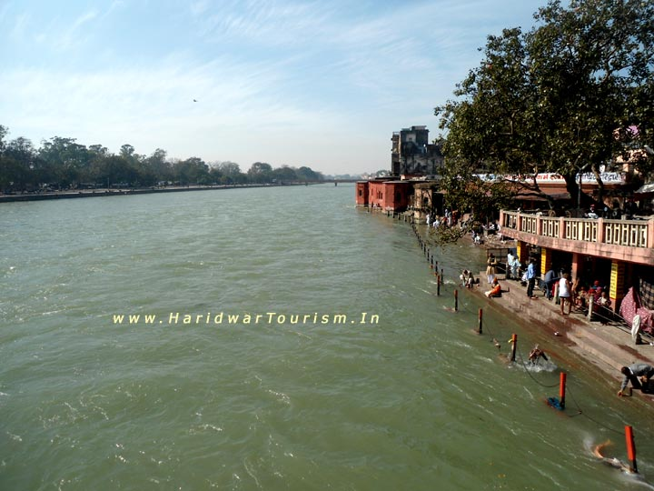 Holy Ganges at Kusha Ghat