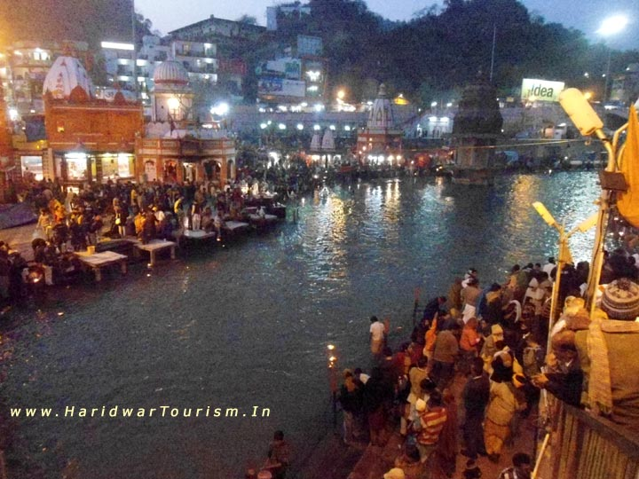 Har Ki Pauri at Night