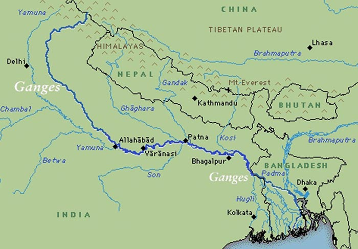 Holy River Ganga Map